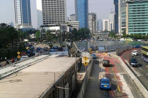 Ada Proyek MRT dan JPO, Lalu Lintas Jalan MH Thamrin Tetap Lancar