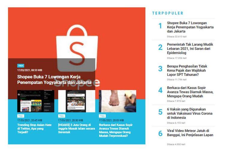 Populer Tren Lowongan Kerja Di Shopee 6 Vaksin Covid 19 Yang Digunakan Indonesia Halaman All Kompas Com
