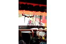 Viral, Video Detik-detik Bus di Temanggung Terguling Setelah Hindari Pengendara Sepeda Motor
