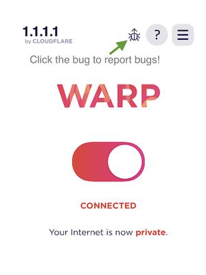 Cara melaporkan bug di Cloudflare WARP
