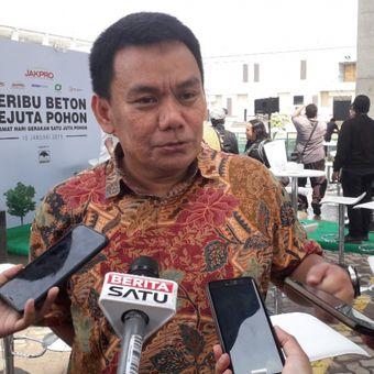 Direktur Proyek LRT Jakarta Iwan Takwin di Depo LRT Pegangsaan Dua, Kamis (10/1/2019).