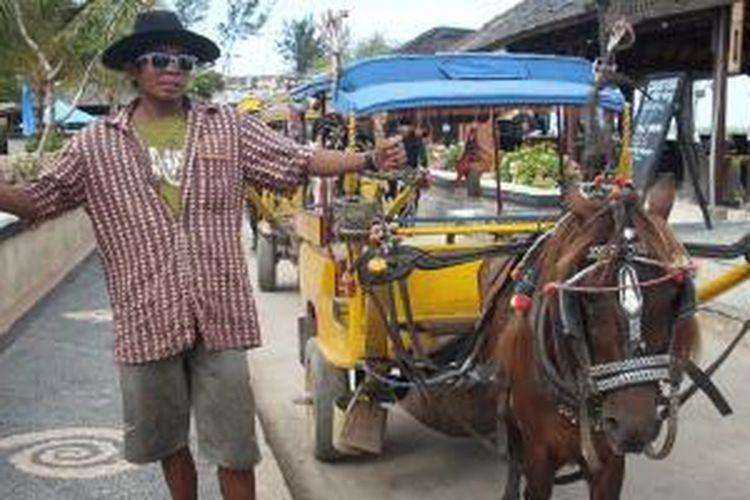 Cidomo di Gili Trawangan, Lombok, NTB.