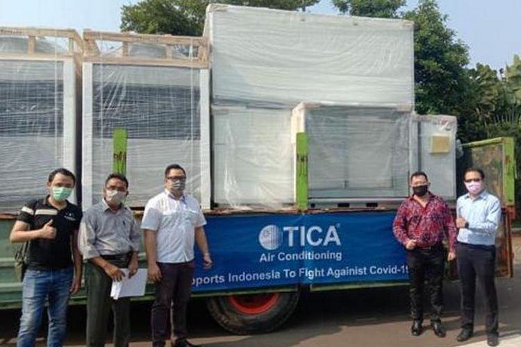 Ciputra Hospital Citra Garden City Jakarta dan Ciputra Hospital Citra Raya Tangerang mendapat bantuan fasilitas alat pengatur udara (AHU) melalui program CSR TICA Climate Solutions., Co.LTD.