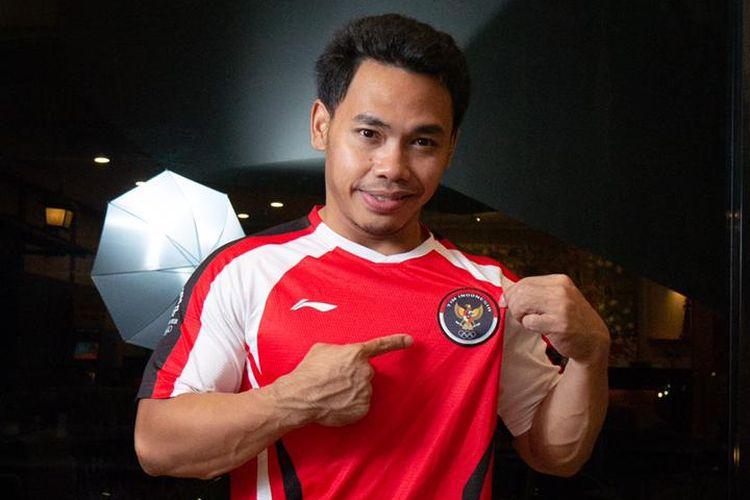 Lifter Eko Yuli Irawan menggunakan jersey dengan logo baru tim Indonesia untuk Olimpiade Tokyo 2020. Logo tersebut juga akan digunakan di multievent internasional selanjutnya.