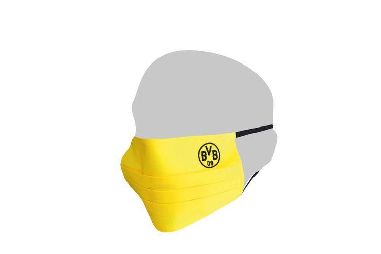 Masker wajah Borrusia Dortmund.
