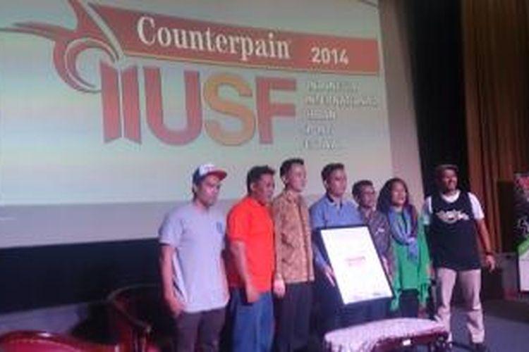 Acara Jumpa Pers Indonesia International Urban Sport Festival di Auditorium Kemenpora, Jakarta (10/12/2014)'