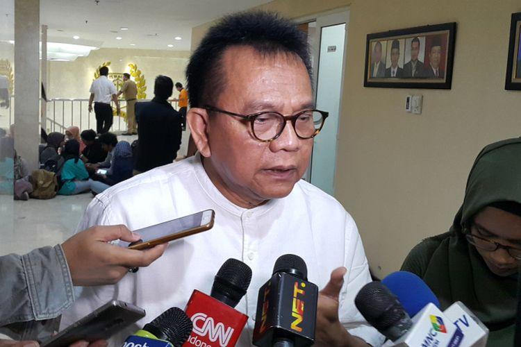 Wakil Ketua DPRD DKI Jakarta M Taufik di Kantor DPRD DKI Jakarta, Jalan Kebon Sirih, Jakarta Pusat, Selasa (30/5/2017).