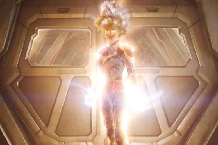 Brie Larson, aktris pemeran Captain Marvel.
