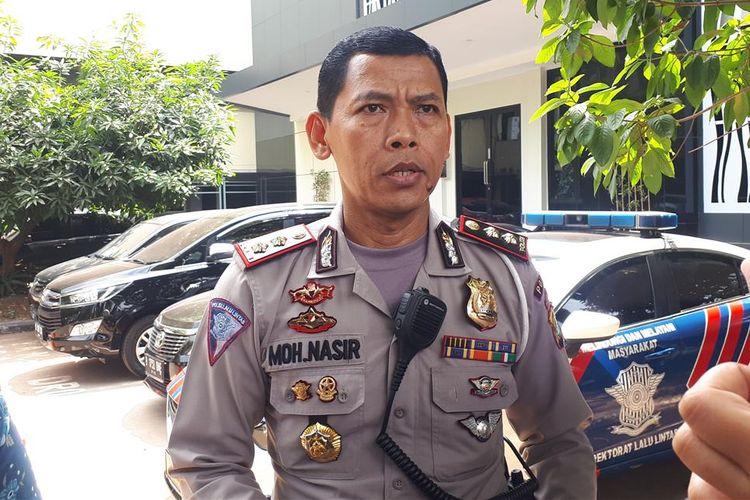 Kasubdit Gakkum Ditlantas Polda Metro Jaya, AKBP Muhammad Nasir di Polda Metro Jaya, Jakarta Selatan, Senin (15/7/2019).