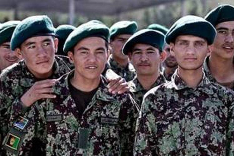 Anggota angkatan darat Afganistan.