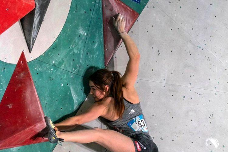 Atlet panjat tebing putri asal Austria, Johanna Farber.