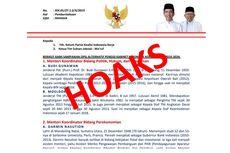 [HOAKS] Surat Berisi Susunan Kabinet Jokowi-Ma'ruf Amin