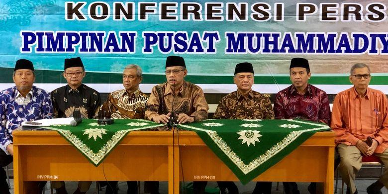 Konferensi pers di Gedung PP Muhammadiyah, Kamis (23/5/2019).