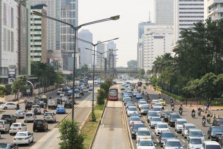 Ilustrasi kemacetan ibukota.