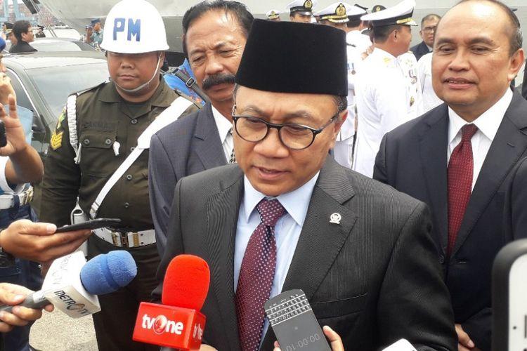 Ketua MPR Zulkifli Hasan di Dermaga JICT 2 Pelabuhan Tanjung Priok, Sabtu (10/10/2018).