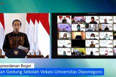 Presiden Jokowi Resmikan Gedung Sekolah Vokasi Undip, Ini Pesannya...