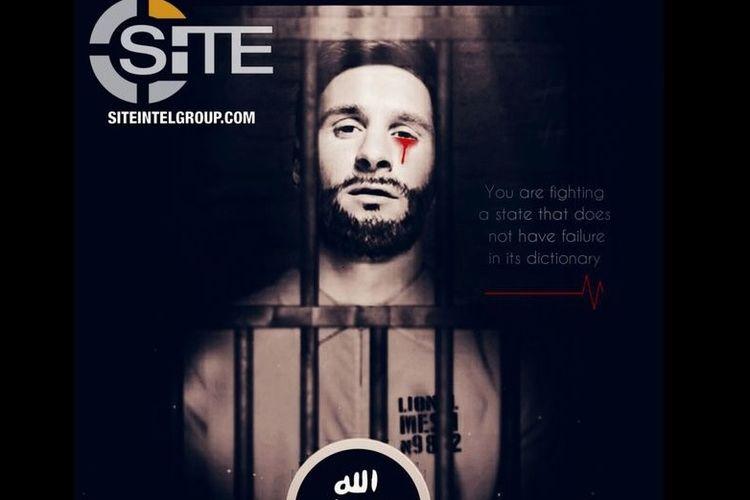Inilah poster yang digunakan ISIS untuk mengancam perhelatan Piala Dunia 2018.