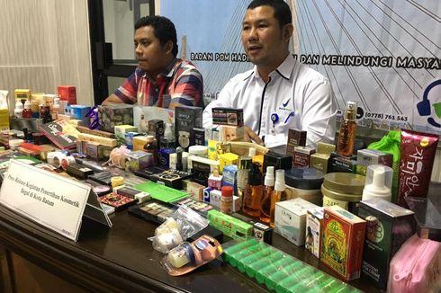 BPOM Kepri Amankan Kosmetik Ilegal Rp 168,6 Juta dari 2 Mal