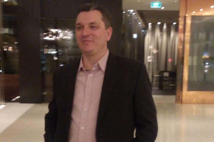 Presiden Direktur PT Telkomtelstra Erik Meijer saat ditemui dalam rangkaian acara Telstra Vantage 2018, Rabu (19/9/2018) di Melbourne, Australia.