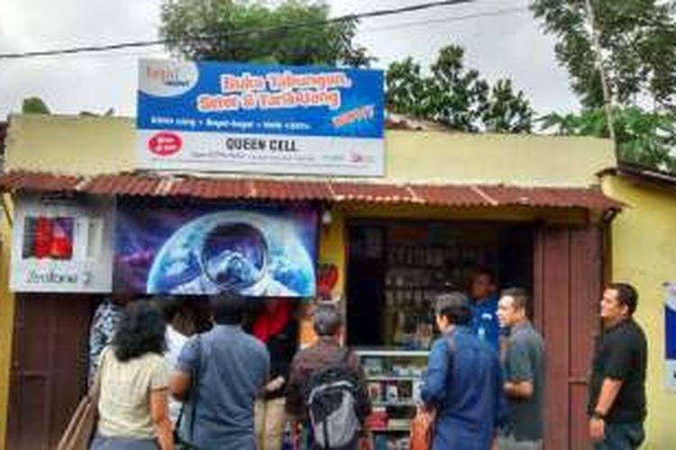 Salah satu agen BTPN Wow! di kawasan Batu Malang, Jawa Timur.