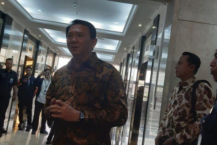 Komisaris Utama PT Pertamina Persero Basuki Tjahaja Purnama atau Ahok di Kementerian BUMN, Jakarta, Senin (25/11/2019).