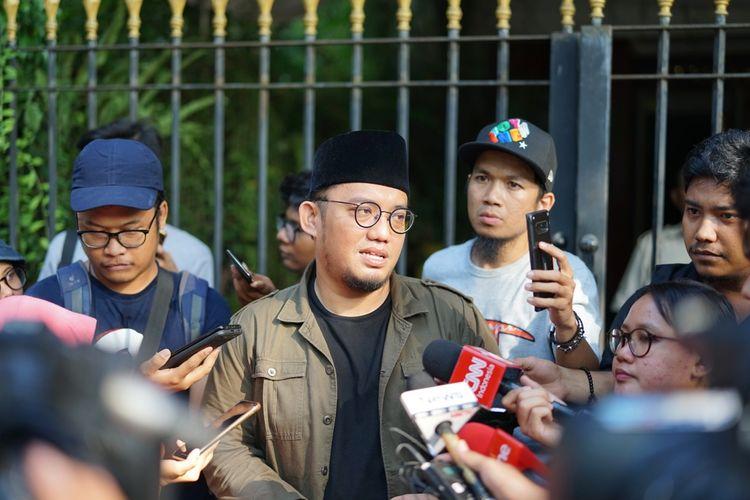 Koordinator Juru Bicara BPN Dahnil Anzar Simanjuntak saat ditemui di kediaman Prabowo-Sandiaga, Jalan Kertanegara, Jakarta Selatan, Kamis (23/5/2019).