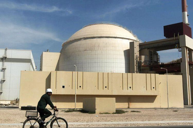 Reaktor PLTN Bushehr, tepat di luar kota selatan Bushehr. Pembangkit listrik tenaga nuklir satu-satunya Iran telah mengalami penutupan darurat sementara, TV pemerintah melaporkan pada hari Minggu, 20 Juni 2021.