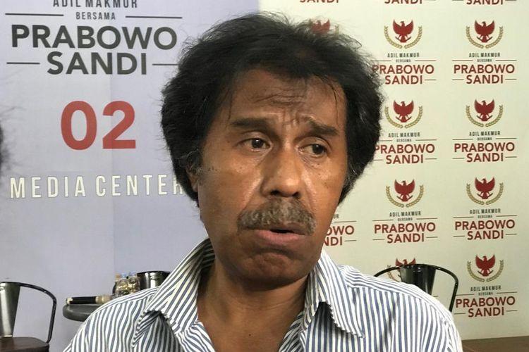 Pakar Hukum Tata Negara Margarito Kamis di Media Center Prabowo Subianto-Sandiaga Uno, Jakarta Selatan, Rabu (20/3/2019).