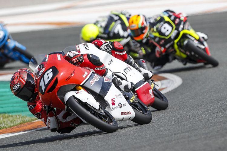 Mario Suryo Aji di ajang FIM CEV Moto3 Junior World Championship 2021