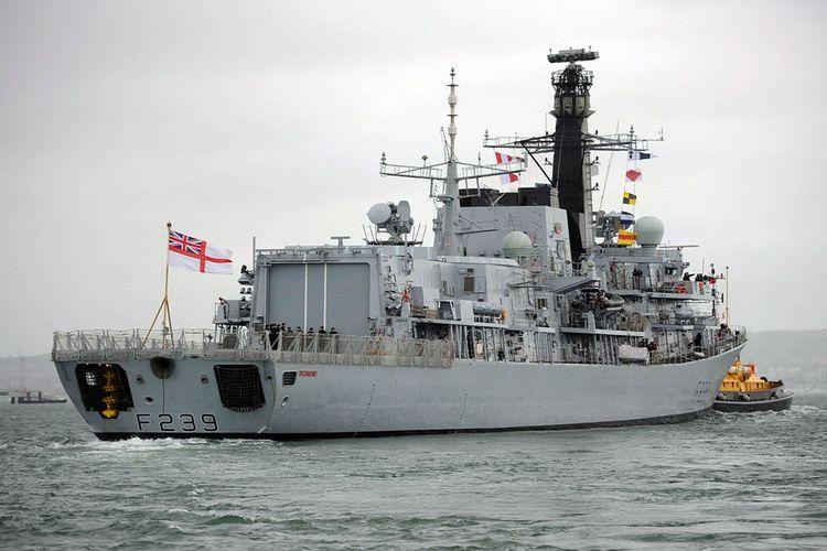 Kapal perang Inggris HMS Richmond (F239).