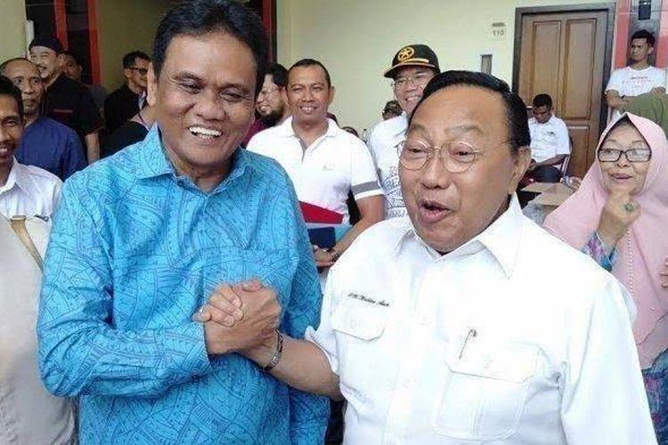 Calon Bupati Barru Malkan Amin (baju putih), meninggal dunia di hari pencoblosan, Rabu (9122020) siang.