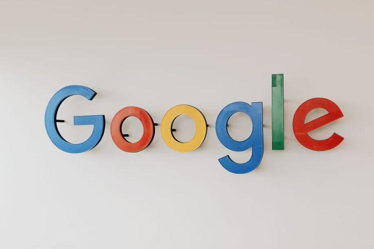 Logo Google di kantor Google Indonesia, Pacific Century Place SCBD Jakarta