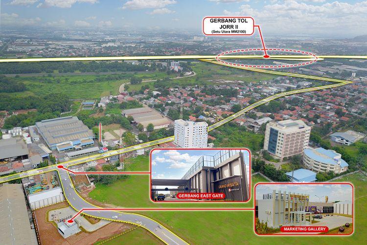 Sinar Mas Land membuka akses gerbang timur (east gate) di Grand Wisata Bekasi.