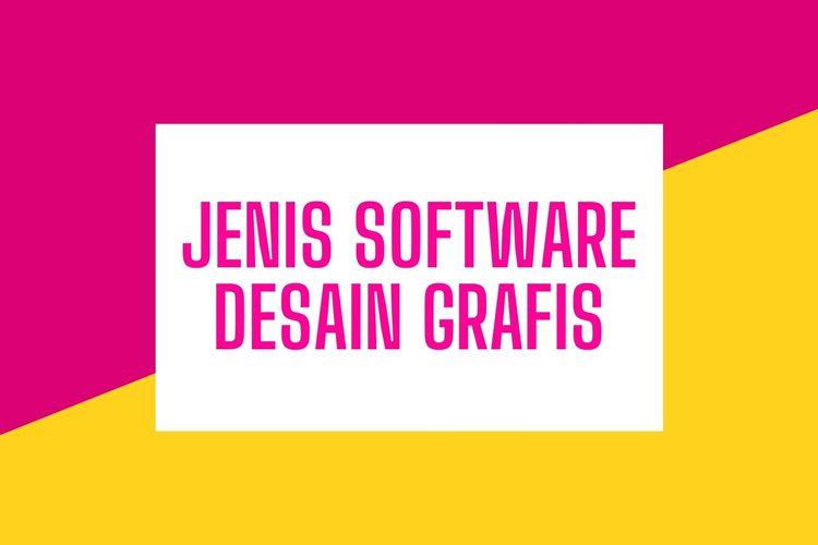 Ilustrasi jenis software desain grafis.