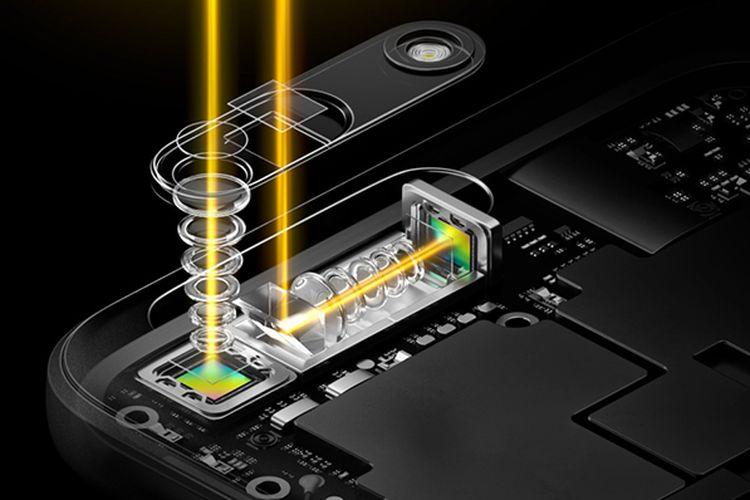 Teknologi kamera mobile zoom 5x yang dikenalkan Oppo di MWC Barcelona, Senin (27/2/2017).