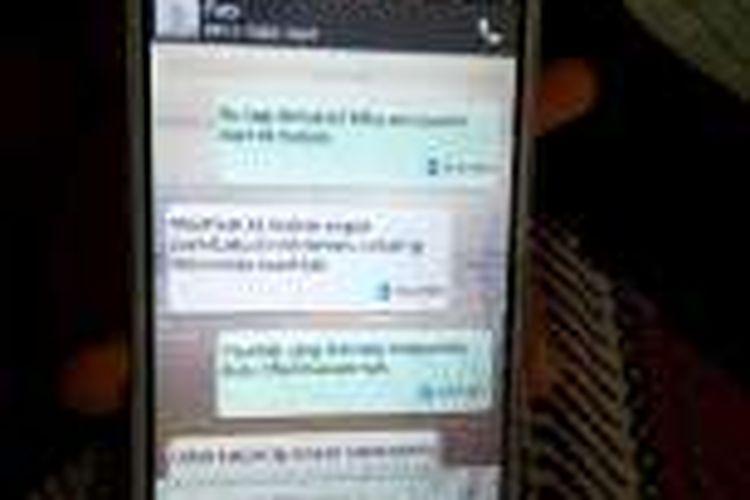 Ini isi SMS Dyanti ke nomer Handphone Feby Kurnia