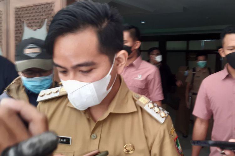 Wali Kota Solo, Gibran Rakabuming Raka di Balai Kota Solo, Jawa Tengah, Senin (31/5/2021).