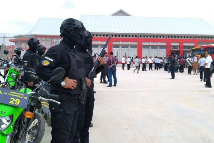 Peresmian Lapas Karanganyar di Pulau Nusakambangan, Kabupaten Cilacap, Jawa Tengah, beberapa waktu lalu. Lapas tersebut merupakan salah satu lapas di Nusakambangan yang menerapkan sistem super maximum security.