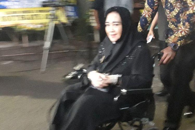 Wakil Ketua Umum Partai Gerindra Rachmawati Soekarnoputri menghadiri acara tahlilan wafatnya Presiden ketiga Republik Indonesia Bacharuddin Jusuf Habibie, Kamis (12/9/2019).