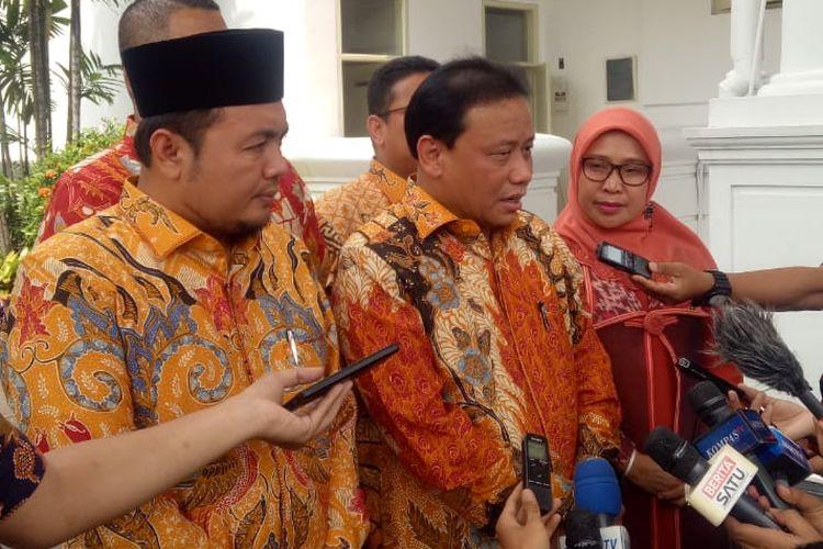 Jajaran Komisioner Badan Pengawas Pemilu menemui Presiden Joko Widodo di Istana Kepresidenan, Jakarta, Rabu (28/8/2019) pagi.