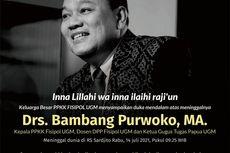 Terpapar Covid-19, Dosen Fisipol UGM dan Ketua Gugus Tugas Papua Bambang Purwoko Meninggal