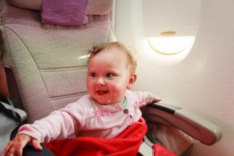 ILUSTRASI - Bayi di pesawat