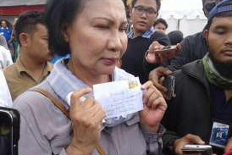 Aktivis Ratna Sarumpaet mendapat surat kaleng