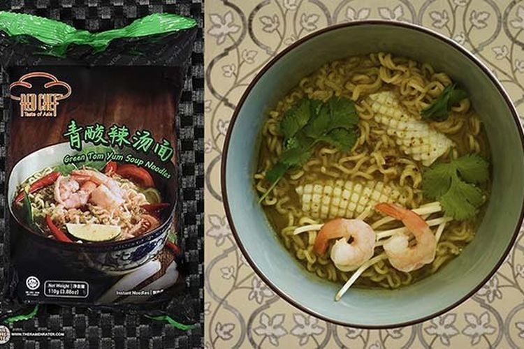Red Chef Green Tom Yum Soup Noodles ? Malaysia.