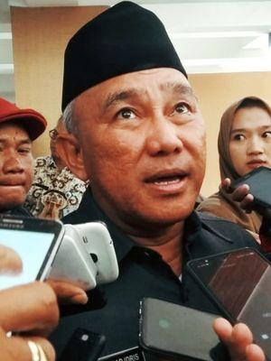Wali Kota Depok Mohammad Idris di Hotel Bumi Wiyata, Depok, Jawa Barat, Kamis (6/2/2020).