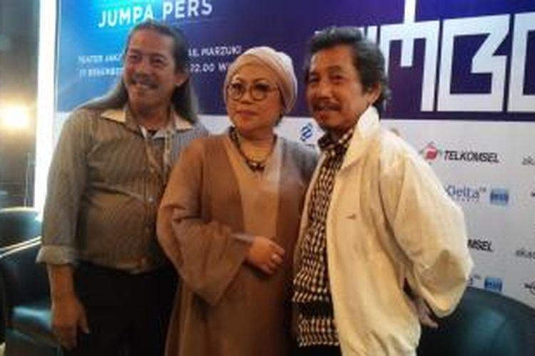 Bimbo dalam konferensi pers konser Indonesia Bernyanyi Bimbo di Hotel JS Luwansa, Jakarta Timur, Jumat (11/12/2015) sore.