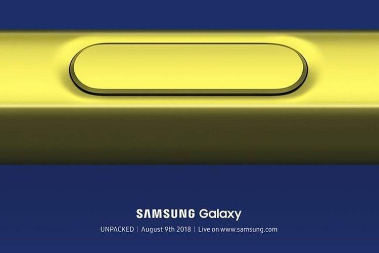 Samsung umumkan acara Unpacked 2018 dengan kisi-kisi berupa S-Pen berwarna kuning.