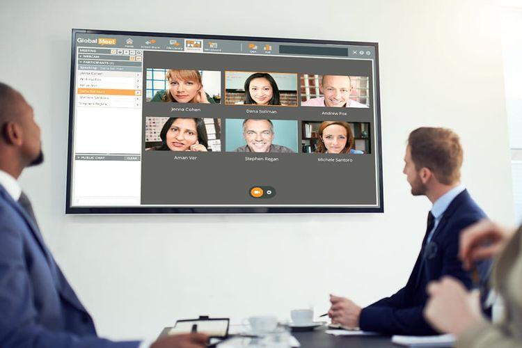 ilustrasi meeting secara video conference
