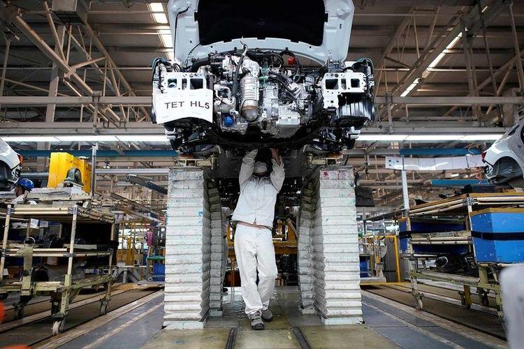 Pabrik Dongfeng Honda di Wuhan yang mulai kembali beroperasi