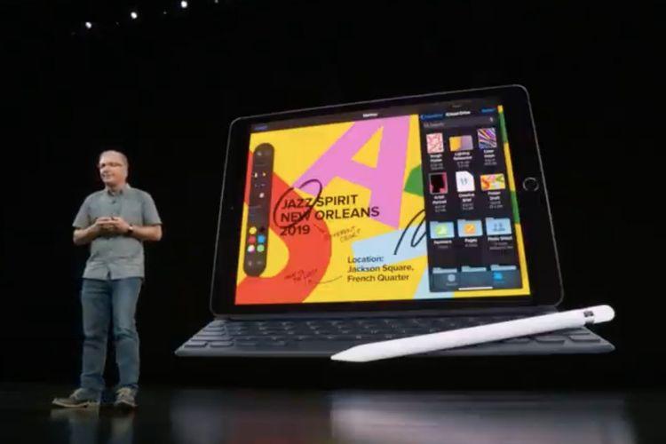Ilustrasi peluncuran iPad 10,2 inci terbaru